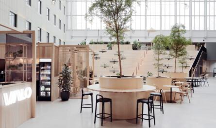 Valopiha koko sisäpiha VALO Hotel & Work Helsinki